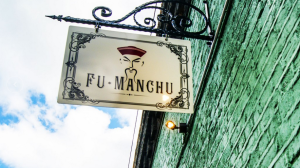 Fu Manchu sign